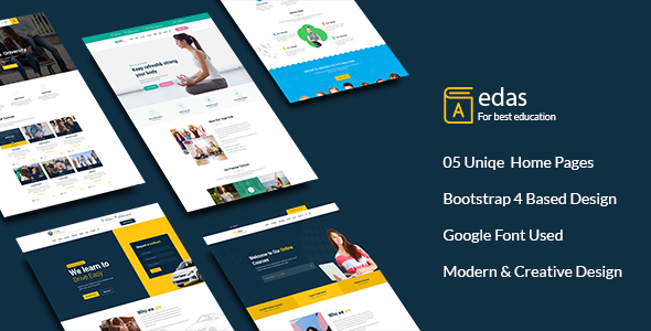 Edas - Education & Learning PSD Template