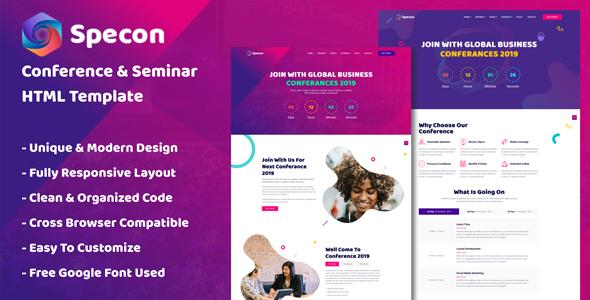 Specon - Conference & Seminar HTML Template