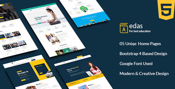 Edas - Education & Learning HTML Template
