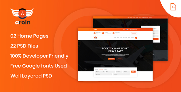 Arion - Air Ticket Booking PSD Template