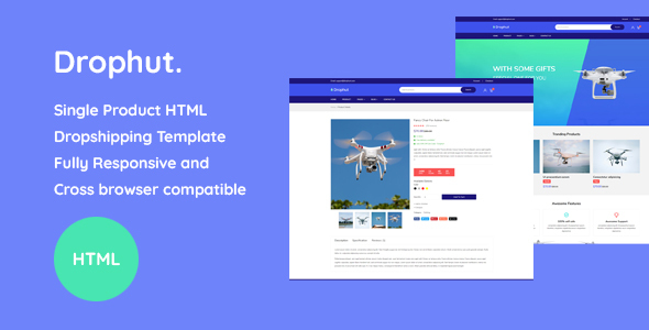 Drophut - Single Product Drop Shipping Template