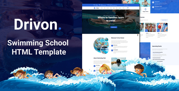 Drivon - Swimming School HTML Template