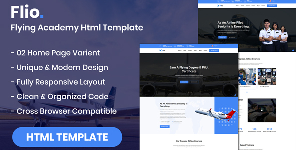 Flio - Flying Academy HTML Template