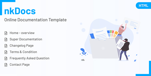 nkDOCS - Online Documentation HTML Template