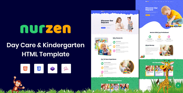 Nurzen - Day Care & Kindergarten HTML Template