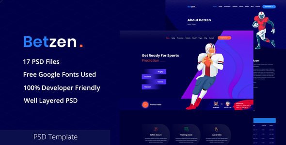 Betzen - Isometric Sports Betting PSD Template