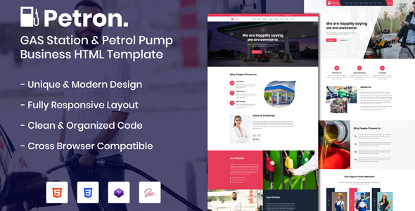 Petron - GAS Station & Petrol Pump Business HTML Template