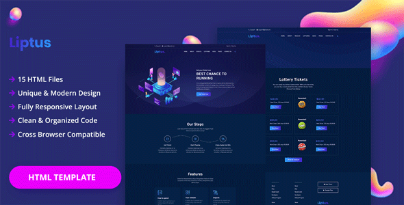Liptus - Isometric Lottery HTML Template