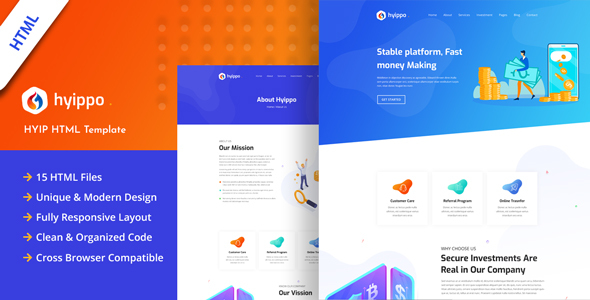 Hyippo - Isometric HYIP Investment Business HTML Template