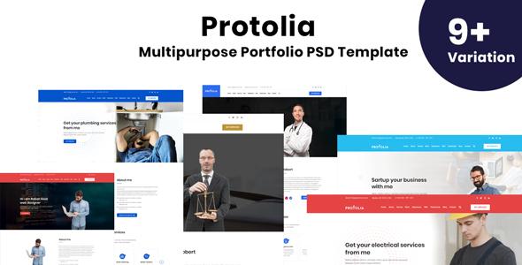 Portolia - Multipurpose Portfolio PSD Template