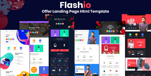 Flashio - Offer Landing Page HTML Template