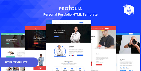 Portolia - Multipurpose Portfolio HTML Template