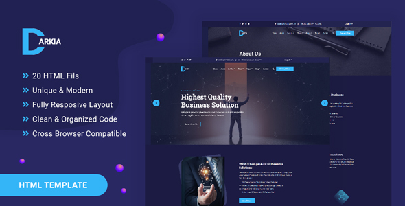 Darkia - Dark Business HTML Template