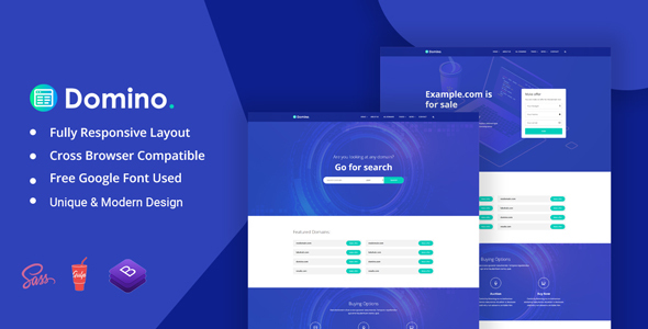 Domino - Domain AfterSale Auction HTML Template