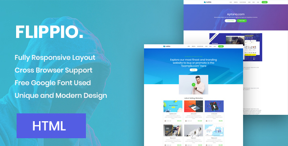 Flippio - Website Buy Sell HTML Template