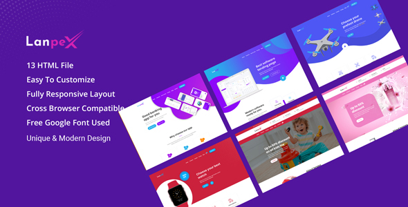 Lanpex - Multipurpose Product Landing Page HTML Template