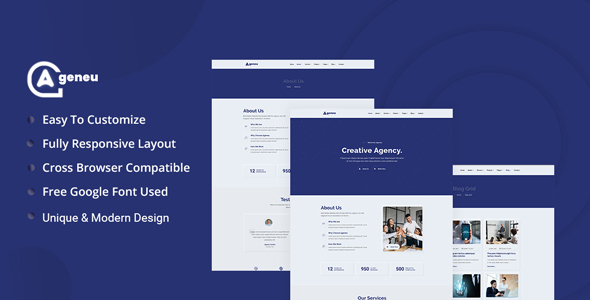 Ageneu - Neumorphic Agency Template